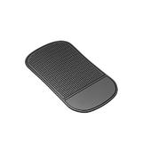 Держатель автомобильный коврик липкий резиновый маленький (цвет чёрный, в тех. упаковке)
