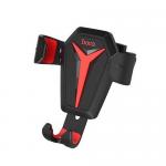 Держатель автомобильный HOCO, CA22, Kingcrab, пластик, воздуховод, цвет: чёрный, красная вставка