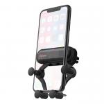 Держатель автомобильный HOCO, CA51, для смартфона, пластик, силикон, воздуховод, чёрный