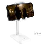 Держатель настольный HOCO, PH27, Stable, для смартфона, пластик, силикон, алюминий, цвет: белый