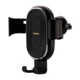 Держатель автомобильный Remax, RM-C38, для смартфона, воздуховод, шарнир, зарядка Qi, чёрный