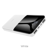 Акб внешний HOCO J42, High power, 10000mAh, пластик, 2 USB выхода, Type-C, 2.0A, белый
