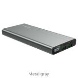 Универсальный дополнительный аккумулятор BOROFONE BT34 Veloscity PD+QC3.0 (10000mAh) серый