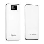 Аккумулятор внешний FaisON HB23A, Flowed, 15000mAh, 2 USB выхода, дисплей, 2.0A, фонарик, белый