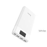 Аккумулятор внешний HOCO B35E, Entourage, 30000mAh, 3 USB выхода, дисплей, 2.0A, белый