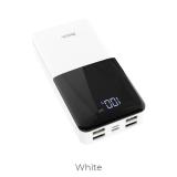 Акб внешний HOCO J42, High power, 20000mAh, 4 USB выхода, Type-C, микроUSB, дисплей LED, 2.1A, белый