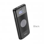 Аккумулятор внешний HOCO J63, Velocity, 10000mAh, PD, QC3.0, 1 USB, Type-C, QI зарядка, 3.0A, чёрный