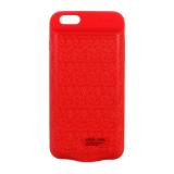 Аккумулятор внешний Baseus для APPLE iPhone 6/6S Plus (5.5), Plaid LBJ09, 7300mAh, 2.1A, красный